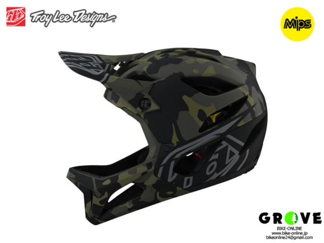TroyLeeDesigns トロイリーデザインズ [ STAGE Helmet Mips 2021 ] CAMO OLIVE フルフェイス ヘルメット 【GROVE青葉台】