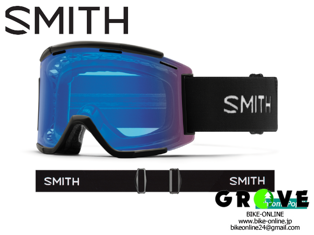 SMITH スミス [ Squad XL MTB Goggle ゴーグル ] Black - ChromaPop Contrast Rose Flash /Clear 【 GROVE青葉台 】