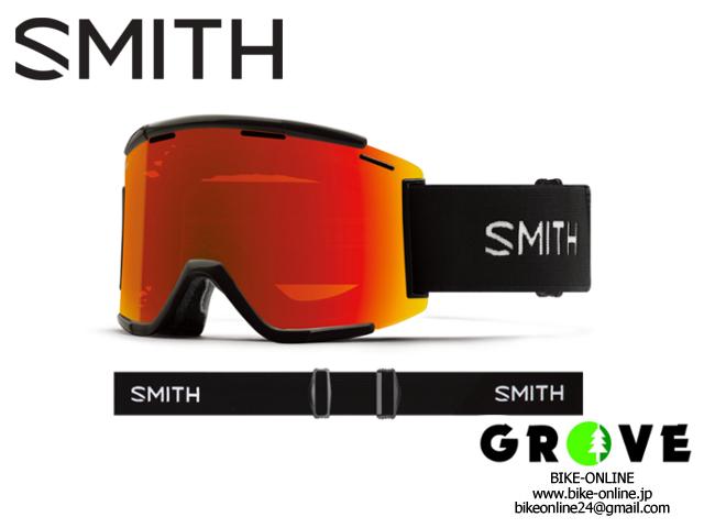 SMITH スミス [ Squad XL MTB Goggle ゴーグル ] Black - ChromaPop Everyday Red Mirror /Clear 【 GROVE鎌倉 】