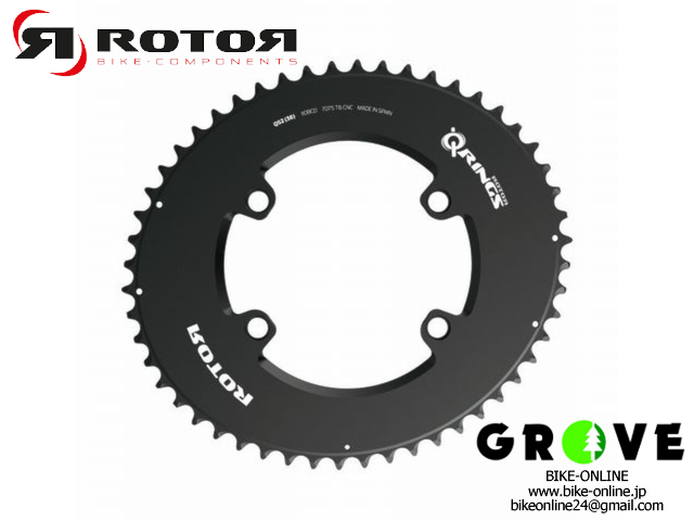 ROTOR ローター [ AERO OVAL Q RING 110×4 OUTER ] BLACK 【 GROVE鎌倉 】
