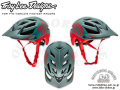 Troy Lee Designs [ A1 All-Mountain Helmet ] Drone Gray/Red 【風魔新宿】 /XL/2Xサイズ
