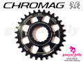 CHROMAG [ Sequence X-SYNC DIRECT MOUNT Chainring ] RaceFace for Cinch system cranks 28/30T ブラック 【風魔新宿】