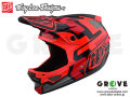 Troy Lee Designs トロイリーデザインズ [ D3 FIBERLITE HELMET ] SPEEDCODE RED 【GROVE青葉台】