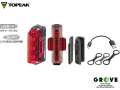 TOPEAK トピーク [ REDLITE AERO USB ] リア用充電式ライト 【 GROVE青葉台 】