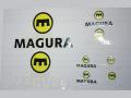 MAGURA [ Logo Decal Set ] マグラ ロゴデカール 【風魔横浜】