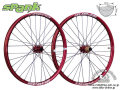 SPANK [ OOZY TRAIL345 650b 32H  ] F&R WHEEL SET / F:15/20mm  R:142x12mm / Red 【風魔新宿】 ※ 在庫限定特価