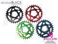 absolute BLACK [ SRAM SPIDERLESS Narrow-Wide ChainRing ] 28/30T 【風魔新宿】