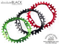 absolute BLACK [ OVAL 104 PCD Narrow-Wide Chainring ] 32/34T 【風魔新宿】