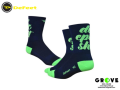 DeFeet デフィート[ Aireator Do Epic Shit (Navy w/Hi-Vis Green) Double Cuff 5 ] 速乾性ソックス Mサイズ  【 GROVE青葉台 】