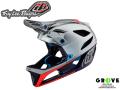 Troy Lee Designs トロイリーデザインズ [ STAGE Helmet Mips 2019 ] RACE SILVER /NAVY 【 GROVE青葉台 】