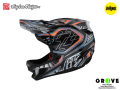Troy Lee Designs [ D4 CARBON HELMET 2021 ] LOWRIDER GRAY  M size  【GROVE青葉台】