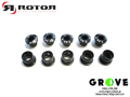 ROTOR ローター [ ROAD BOLT SET 5 BOLTS & 5 NUTS ] BLACK 【 GROVE鎌倉 】