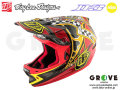 Troy Lee Designs [ D3 Carbon HELMET Mips 2017 ] Longshot Red / 2XLサイズ 【GROVE青葉台】【送料無料】