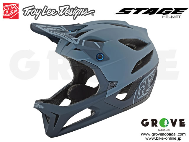 Troy Lee Designs トロイリーデザインズ [ STAGE Helmet Mips ] STEALTH - MATTE GREY フルフェイス ヘルメット 【GROVE青葉台】