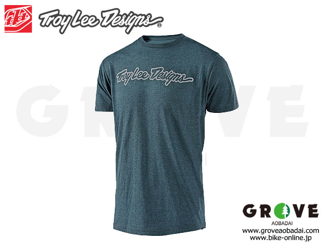 Troy Lee Designs トロイリーデザインズ [ SIGNATURE TEE ] 2019 JADE Heather / Mサイズ 【GROVE青葉台】