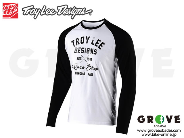 Troy Lee Designs トロイリーデザインズ [ VINTAGE RACE SHOP L/S TEE ] 2019 White/Black 【GROVE青葉台】
