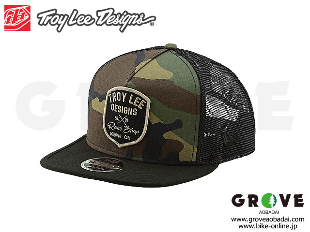 Troy Lee Designs トロイリーデザインズ [ VINTAGE RACE SHOP SNAPBACK HAT ] 2019 NEW ERA HAT / CAMO ARMY 【GROVE青葉台】