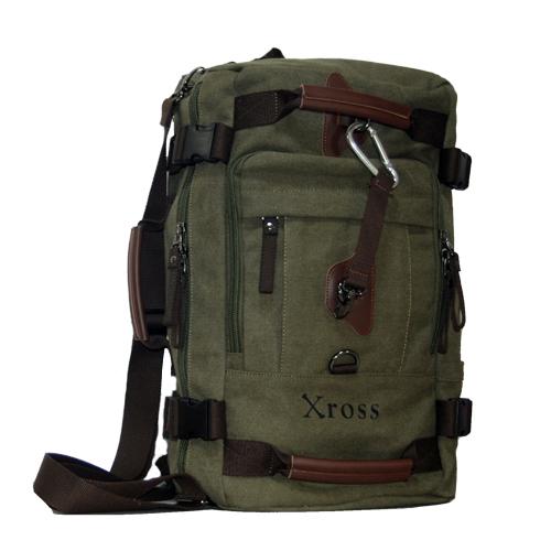 Xross クロス 多収納バックパック ボストンバッグ キャンバスバッグ