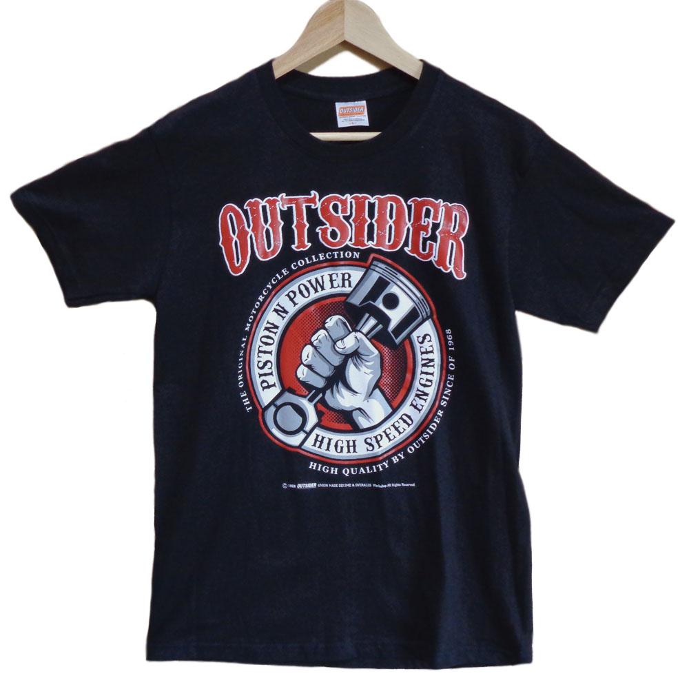 OUTSIDER アウトサイダー デザインTシャツ Lサイズ