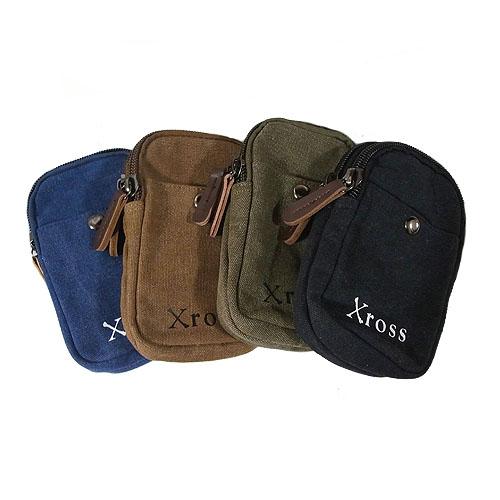 Xross クロス  ウエストポーチ ヒップバック キャンバスバッグ