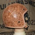 Xross クロス 本革ヘルメット カービング
