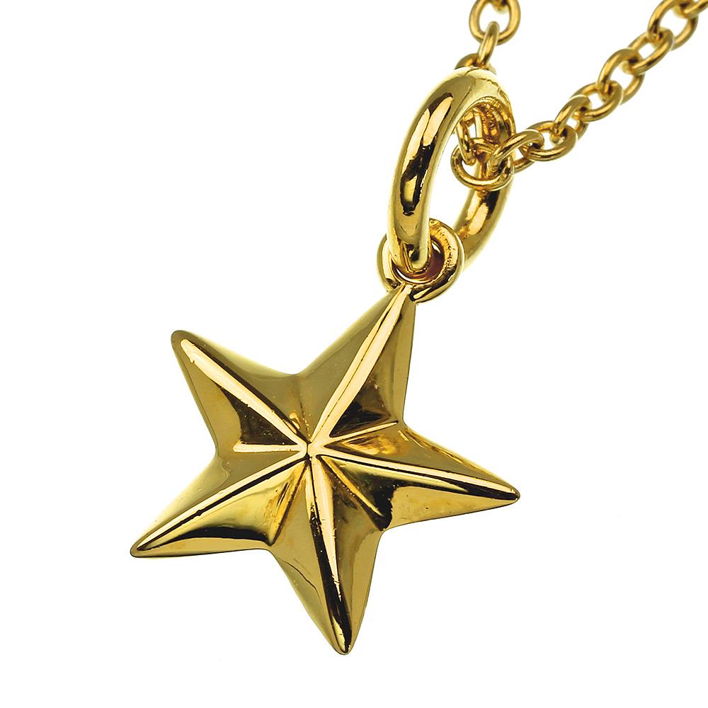 シンプル スター ブラス ペンダント 【ゴールドカラータイプ】 ≪トップのみ≫ メンズ アクセサリー 星 [真鍮]
