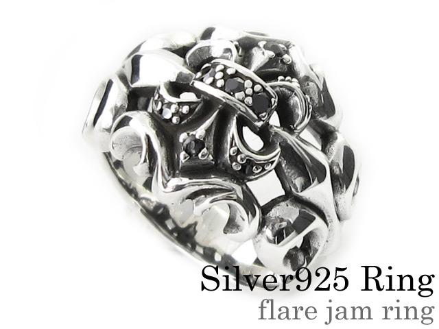 フレアージャム リング シルバー アクセサリー ジルコニア 指輪 [シルバーリング]