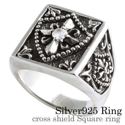 クロス シールドスクウェア リング 指輪 [シルバーリング] 送料無料