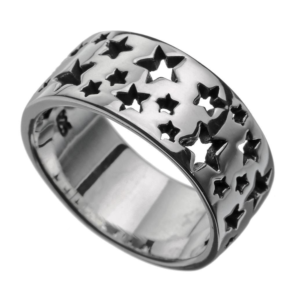 ロッツオブ スターズ ホール リング メンズ 星 スター 指輪 [シルバーリング]