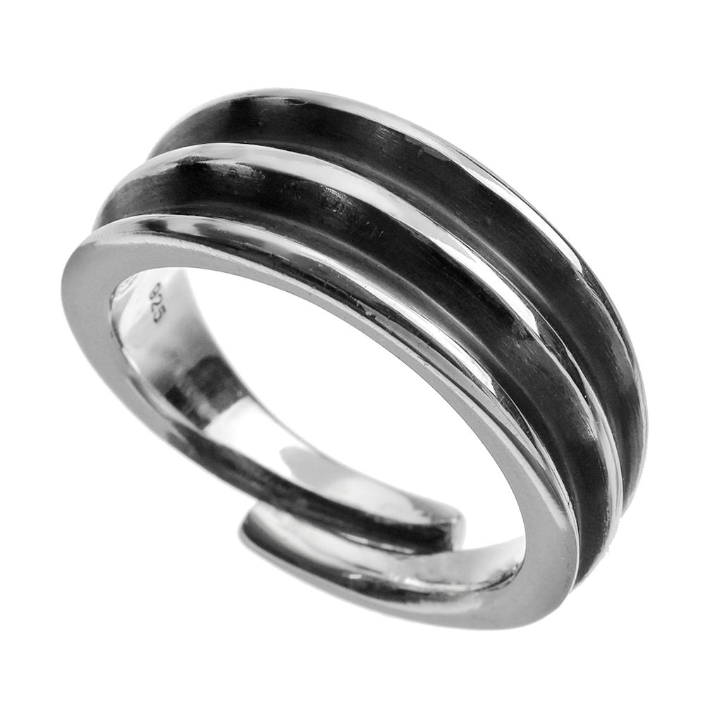 エッジ ライン ネイティブ リング 指輪 シンプル  [シルバーリング]