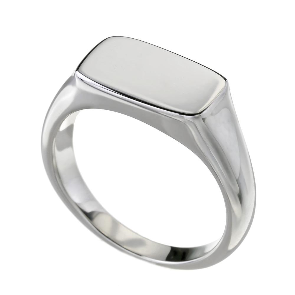 スリム 印台 リング シルバー アクセサリー 指輪 [シルバーリング]