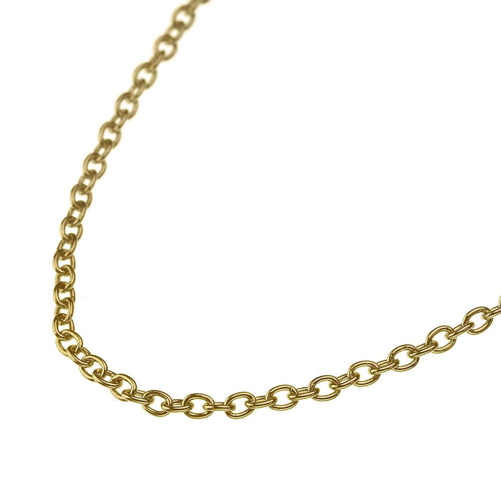 【細め】1.3mmアズキスチールチェーン(ゴールドカラー) 女性用 40cm / 男性用 45・50cm [ステンレスチェーン]  レディース メンズ