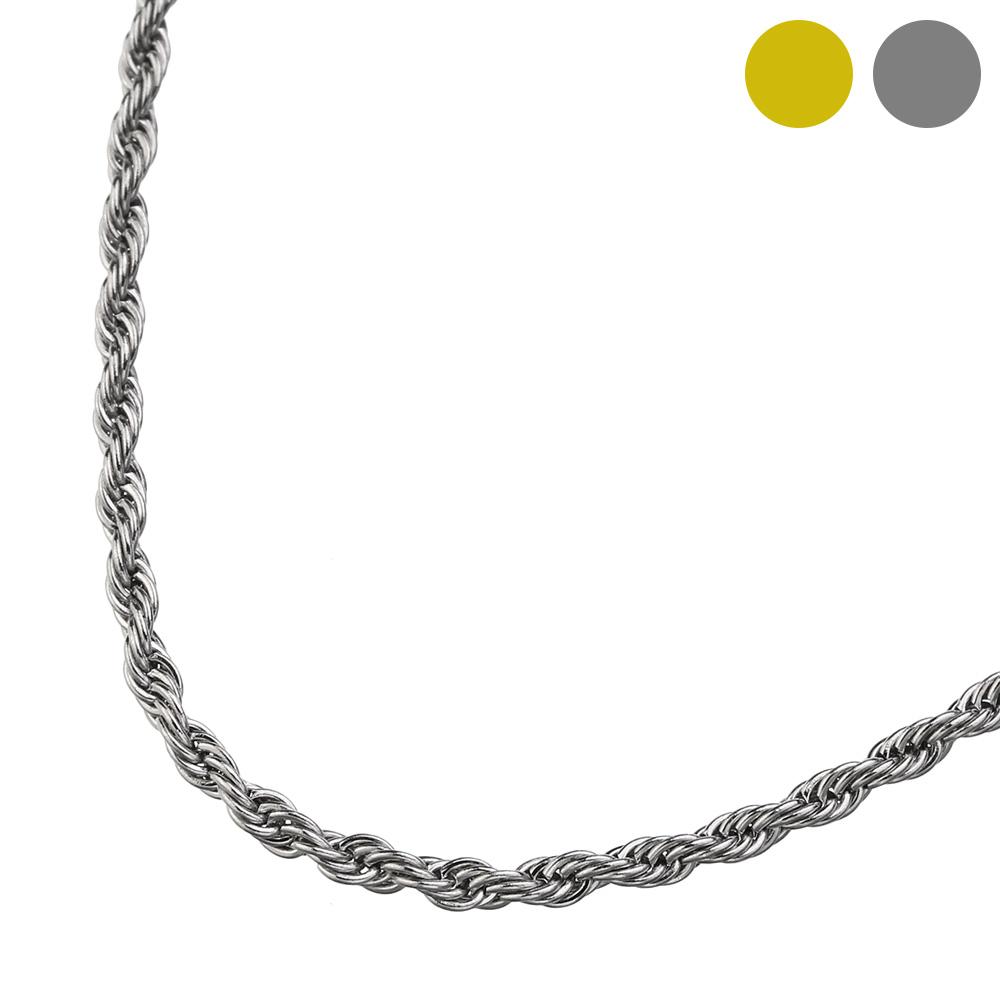 ステンレス フレンチ ロープ チェーン ネックレス 46cm [ステンレスチェーン]