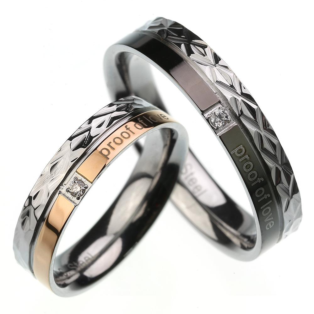 【刻印可能】【ペア販売】 ペア リング 〜proof of love〜 ステンレス リング シルバー アクセサリー 指輪 [ステンレスリング] 送料無料
