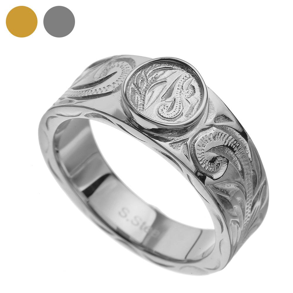 ハワイアン テイスト ステンレス リング メンズ レディース ハワイアン 指輪 [ステンレスリング] 送料無料