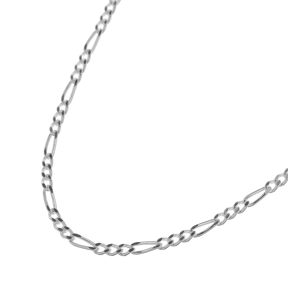【極細】 1.3mm フィガロ チェーン 45cm ネックレス シルバー925 細め [シルバーチェーン] メンズ