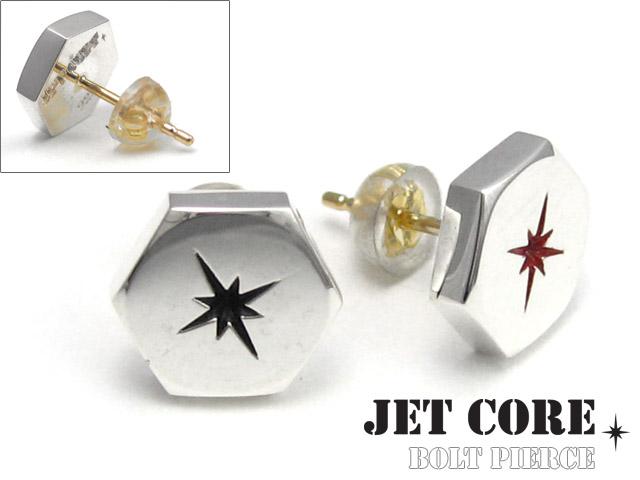 JET CORE (ジェットコア) ボルト ピアス メンズ 男性 [シルバーピアス] 片耳用(1個売り)