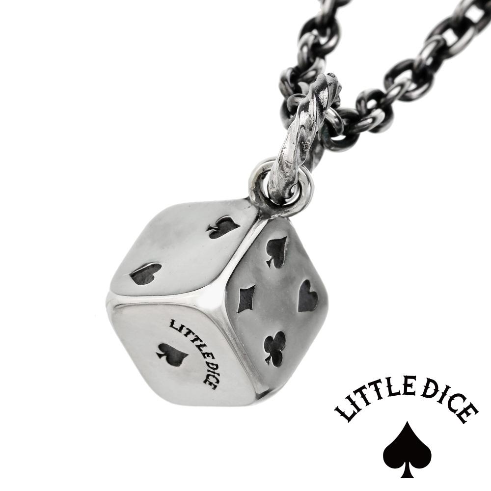 LITTLE DICE (リトルダイス) ブランド リトル トランプ ダイス ペンダント メンズ ネックレス シルバー アクセサリー [シルバーペンダント] 送料無料