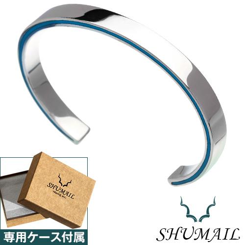 SHUMAIL (シュメール) ブランド サイドライン ターコイズ バングル メンズ シルバー [シルバーブレスレット]