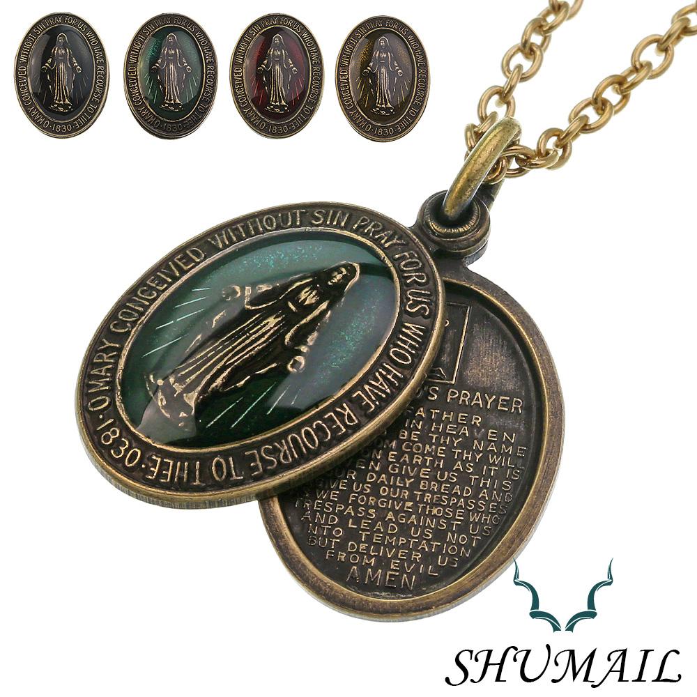 SHUMAIL (シュメール) ブランド アンティークスタイル マリア メダイ ペンダント 真鍮