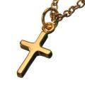 クロス 十字架 【ゴールドカラータイプ】 ペンダント ≪トップのみ≫ メンズ ネックレス シルバー アクセサリー [シルバーペンダント]