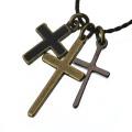 真鍮 ペンダント ネックレス メンズ シルバー アクセサリー クロス 十字架 ブラス[真鍮]