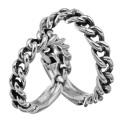【ペア販売】 ID プレート チェーン ペアリング シルバー アクセサリー 指輪 [シルバーリング] 送料無料 喜平 チェーンデザイン リング