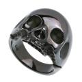 ブラック スカル リング シルバー 指輪 [シルバーリング] 送料無料