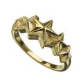 K10 ゴールド ファイブ スター ライン リング ゴールド 指輪 星
