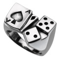 トランプ & ダイス リング メンズ サイコロ 指輪 [シルバーリング] 送料無料