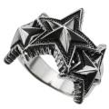 ハニカム トリプル スター リング メンズ 星 指輪 [シルバーリング] 送料無料