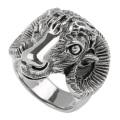 ゴート フェイス リング シルバー アクセサリー 指輪 山羊 ヤギ [シルバーリング] 送料無料
