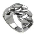 チェーン デザイン プレーン リング シルバー アクセサリー 指輪 チェーン風 喜平  [シルバーリング] 送料無料