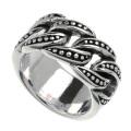 チェーン デザイン スタッズ リング リング シルバー アクセサリー 指輪 チェーン風 喜平  [シルバーリング] 送料無料